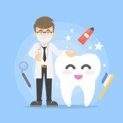 Dental care illustration.