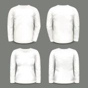 Set of isolated long sleeve tunic or shirt