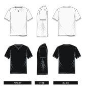 T shirt V-neck raglan sleeve