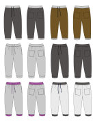 Illustration of Sweat Pants / color variations