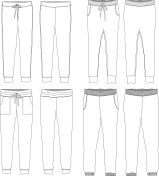 Vector illustration of Jogger Pants