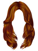 trendy woman long hairs red ginger colors .  beauty fashion .  r