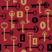 Skeleton Key-Lock Pattern on Red