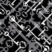 Skeleton Keys in Black
