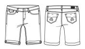 Women's knee length shorts