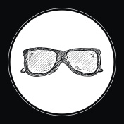 illustration of a pair of sunglasses