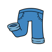 Cartoon Jeans Pants