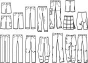 Contours male pants