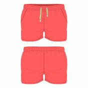 Men's red sport shorts