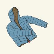Blue down jacket