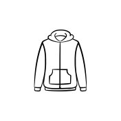 Sweater hand drawn sketch icon