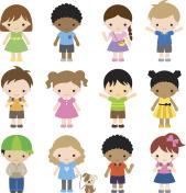 Set of 12 Kid Characters