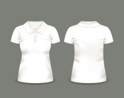 Womens white polo shirt short sleeve
