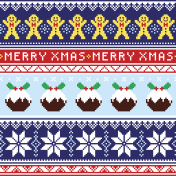 Christmas jumper or sweater seamless pattern with gingerbread man