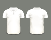 Mens white polo shirt short sleeve