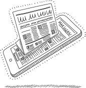Digital and paper news - illustration