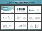 Page layout design template for business presentation