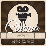 Retro festival poster.