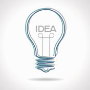 Creative idea in bulb shape