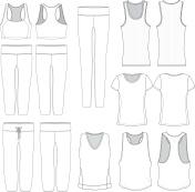 Vector Women's wear templates