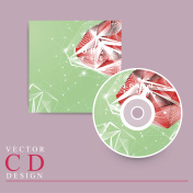 gorgeous CD cover template design