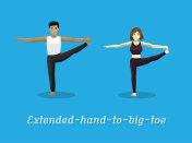 Manga Style Cartoon Yoga Extended-hand-to-big-toe Pose