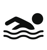 Summer Swim Water Information Flat People Pictogram Icon Isolate