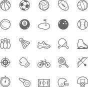 Set of Outline stroke Sport icon