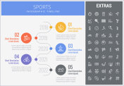 Sports infographic template, elements and icons