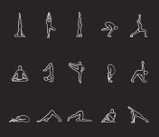 Yoga asanas icons