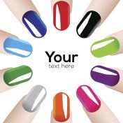 Fashion colours nails