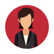 businesswoman character avatar isolated