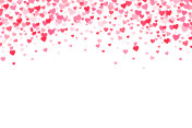Vector pink & red Valentines Days hearts background