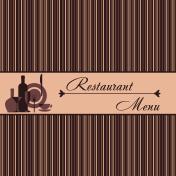 Template of restaurant menu
