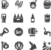 Beer Silhouette icons | EPS10