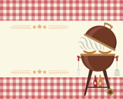 Barbecue party blank invitation