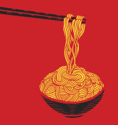 Hand drawn doodle Noodle at bowl and stick. - Illustration Noodles, Pasta, Asian Wheat Noodles, Breakfast, Dinner