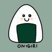 Onigiri (Japanese food) cartoon vector illustration doodle style