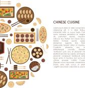 Vector cartoon chinese cuisine food