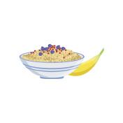 Porridge European Cuisine Food Menu Item Detailed Illustration