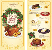 Christmas restaurant menu template design