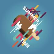 Summer ice cream poster
