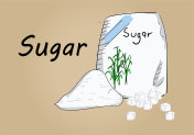 hand drawing illustration vector of sugar bag - each part is isolated and can arrange in the way you want