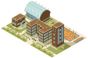 Isometric College Campus