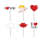 Valentines day photo props . Paper elements love for photo