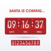 Santa is coming. Christmas countdown timer.
