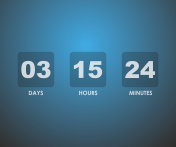 Countdown timer background on blue gradient