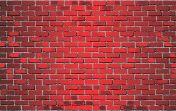 Shiny Red Brick Wall