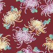 Japanese style chrysanthemum pattern