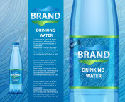Drinking water bottle ad realistic vector illustration